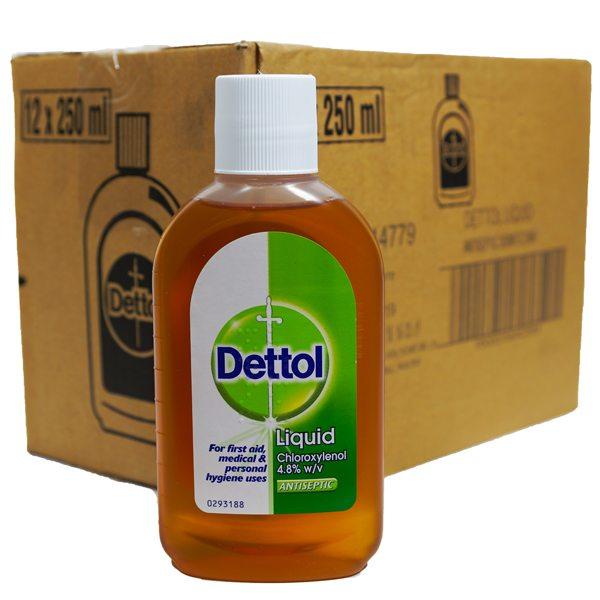 Dettol Liquid Antiseptic Disinfectant 12 X 250ml Grocereezy